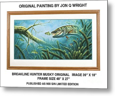 Breakline Hunter Musky Metal Print