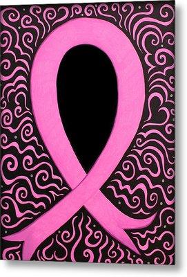 Breast Cancer Awareness Ribbon Metal Print