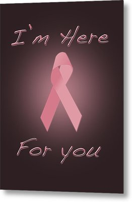 Breast Cancer Metal Print by Jim  Hatch