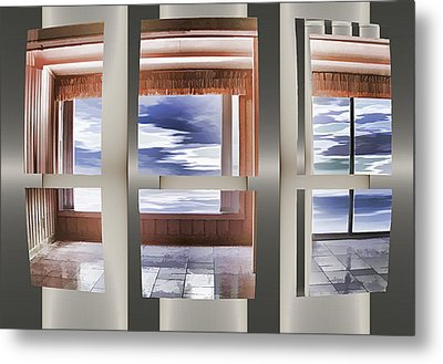 Metal Print featuring the digital art Breathing Space - Silver, Optimized For Metallic Paper by Wendy J St Christopher