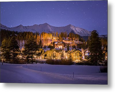 Breckenridge Nordic Night  Metal Print by Michael J Bauer