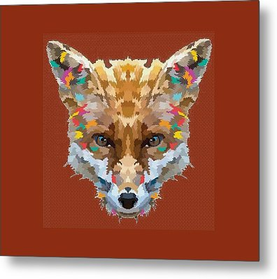 Brerr Fox T-shirt Metal Print by Herb Strobino