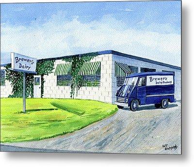 Brewer's Dairy Store, Augusta Maine, Circa 1960 Metal Print by Jeff Blazejovsky