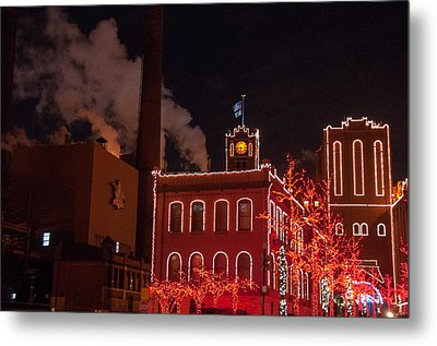 Brewery Lights Metal Print by Steve Stuller