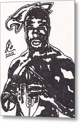 Metal Print featuring the drawing Brian Westbrook by Jeremiah Colley