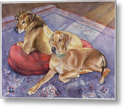 Brick And Shiraz Metal Print by Eileen Hale