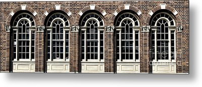 Metal Print featuring the photograph Brick Arch Windows by Brad Allen Fine Art