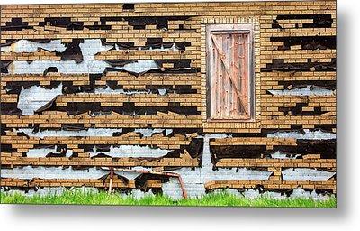 Brick Facade Metal Print by Todd Klassy