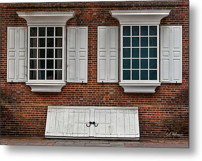 Brick Face Metal Print by Christopher Holmes