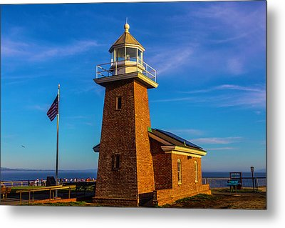Brick Lighthouse At Point Pinos Metal Print by Garry Gay