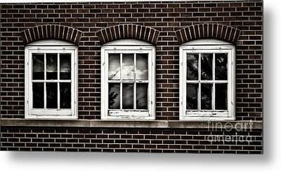 Metal Print featuring the photograph Brick Trio by Brad Allen Fine Art