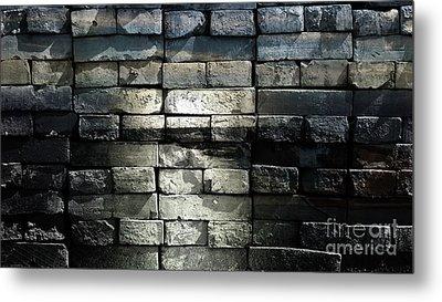 Brick Wall Metal Print by Jolanta Anna Karolska