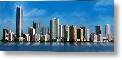 Brickell Skyline 1 Metal Print