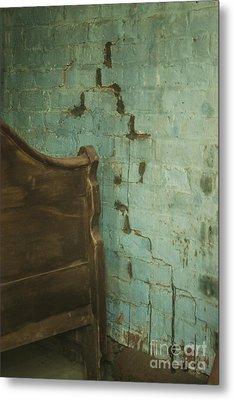 Bricks In Blue Cascades Metal Print