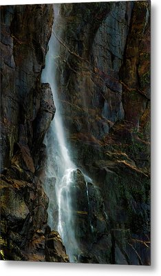 Metal Print featuring the photograph Bridalveil Falls In Autumn by Bill Gallagher