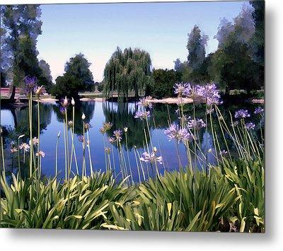 Briddlewood Vineyards Pond Metal Print