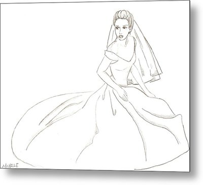 Bride Metal Print by Michelle Kinzler