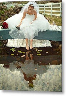Brides Reflection Metal Print by Ken Gimmi