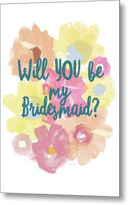 Bridesmaid Floral- Art By Linda Woods Metal Print