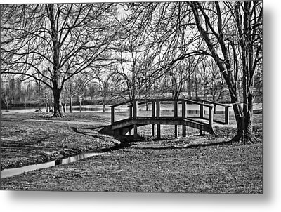 Metal Print featuring the photograph Bridge And Branches by Greg Jackson