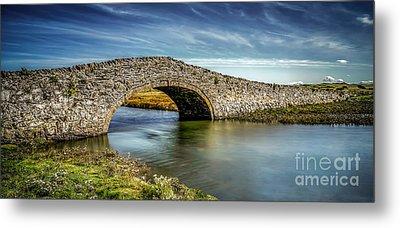 Bridge At Aberffraw Metal Print by Adrian Evans