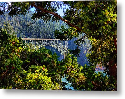 Bridge At Deception Pass Metal Print