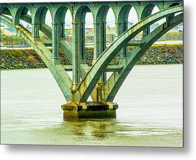 Metal Print featuring the photograph Bridge At Gold Beach by Dale Stillman
