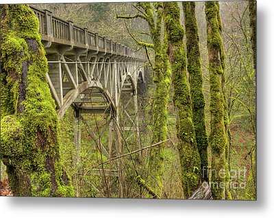 Bridge At Latourell Falls Oregon Metal Print by Dustin K Ryan
