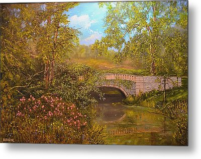 Bridge At Minterne Metal Print