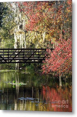 Bridge At Sawgrass Lake Park Metal Print