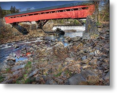 Bridge At Taftsville Vermont Metal Print by Michael Ciskowski