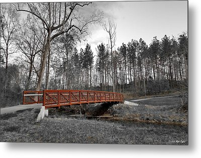 Bridge Below Salem Lake Dam Metal Print by Matt Taylor