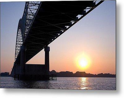 Bridge Over Mississippi River Metal Print
