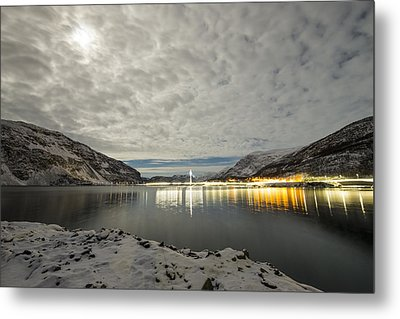 Bridge In Kofjord Alta Metal Print by Helge Larsen