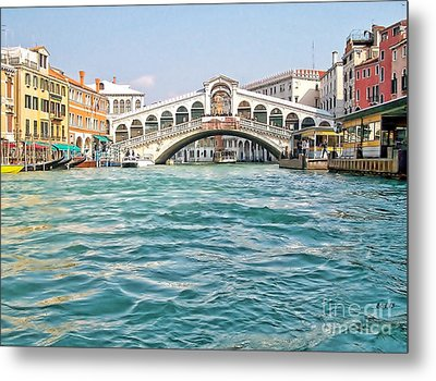 Metal Print featuring the photograph Bridge In Venice by Roberta Byram