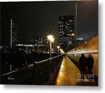 Bridge Into The Night Metal Print
