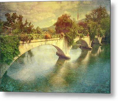 Bridge Of Flowers  Metal Print