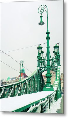 Bridge Of Liberty In Budapest Metal Print by Anastasy Yarmolovich