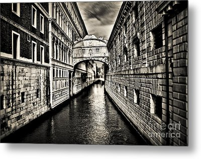 Bridge Of Sighs Metal Print by Alessandro Giorgi Art Photography