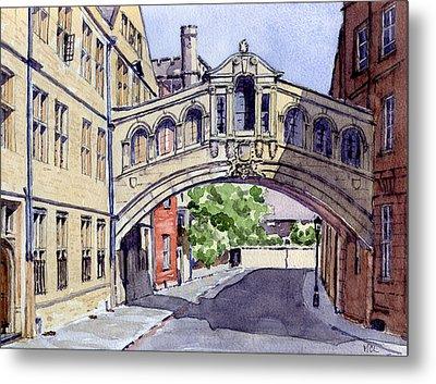 Bridge Of Sighs. Hertford College Oxford Metal Print by Mike Lester