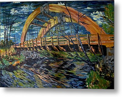 Bridge On County Rd. 27 Metal Print by Denny Morreale