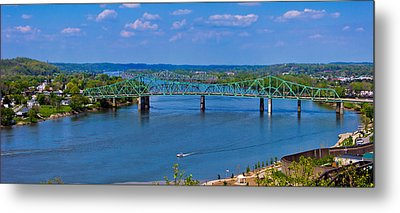 Bridge On The Ohio River Metal Print by Jonny D