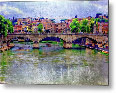 Bridge Over The Tiber River Metal Print