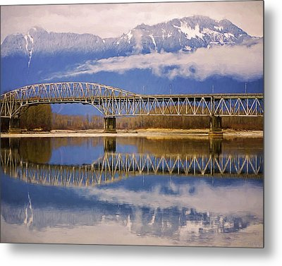 Metal Print featuring the photograph Bridge Over Calm Waters by Jordan Blackstone
