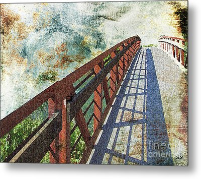 Bridge Over Clouds Metal Print