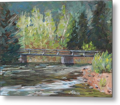 Bridge Over The Poudre Metal Print by Mary Benke