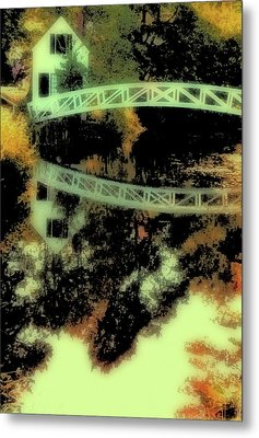Bridge Over The River Metal Print by Carol Kinkead