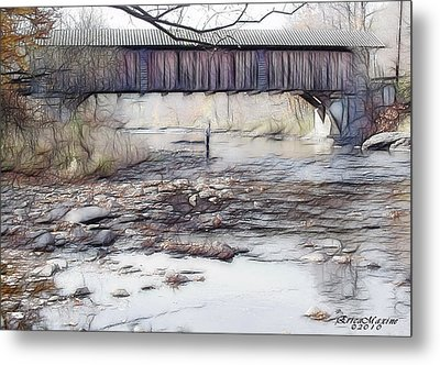 Metal Print featuring the photograph Bridge Over Troubled Waters by EricaMaxine  Price