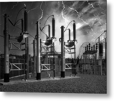 Bridge St Power Substation 2 - Spokane Washington Metal Print by Daniel Hagerman