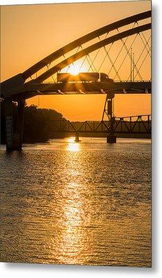 Bridge Sunrise 2 Metal Print